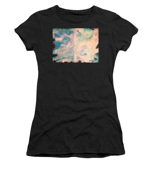 Turquoise Cosmic Cloud Women's T-Shirt