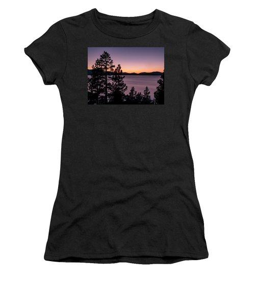 Twilight At Lake Tahoe Women's T-Shirt