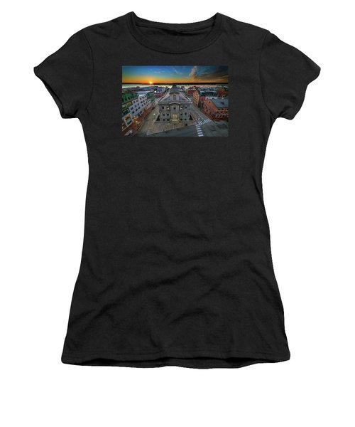 Women's T-Shirt (Athletic Fit) featuring the photograph United States Custom House by Rick Berk