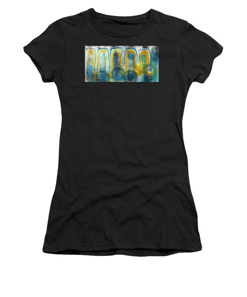 Women's T-Shirt featuring the painting Untitled2 by 'REA' Gallery