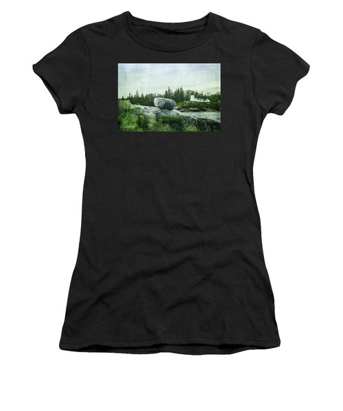 Women's T-Shirt (Athletic Fit) featuring the photograph Upon This Rock by Mike Braun