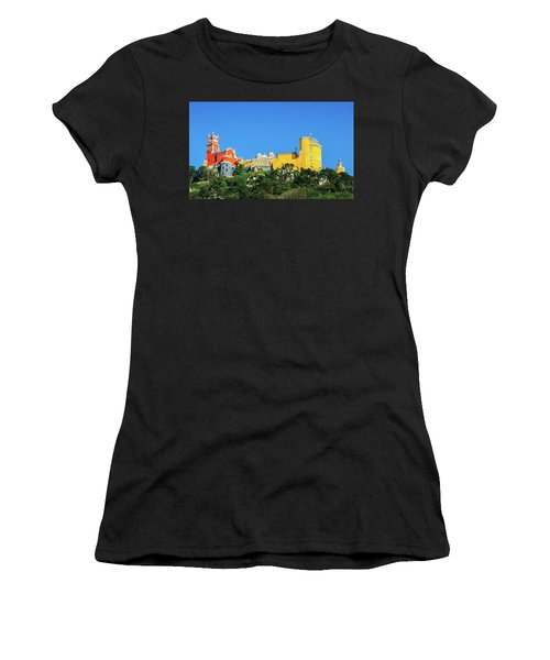 View Of Pena National Palace, Sintra, Portugal, Europe Women's T-Shirt