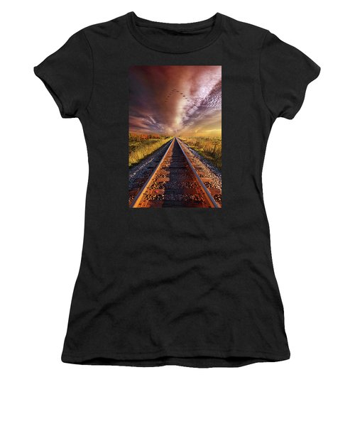 Women's T-Shirt featuring the photograph Walk The Line by Phil Koch