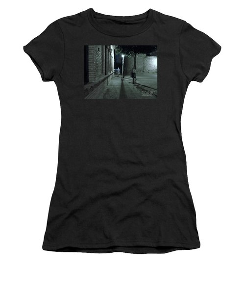 Women's T-Shirt featuring the photograph Walking Away by Rosanne Licciardi