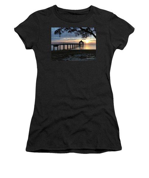 Walking Bridge To The Gazebo Women's T-Shirt