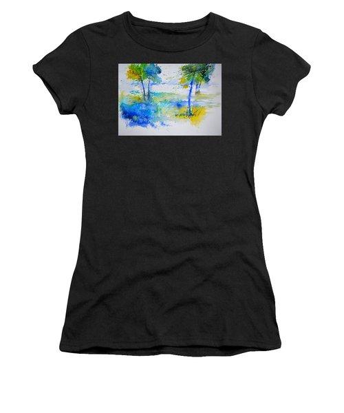 Watercolor Two Trees Women's T-Shirt