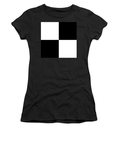 White And Black Squares - Ddh588 Women's T-Shirt