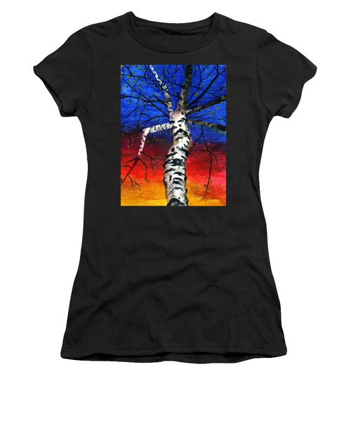 White Birch In Spring Women's T-Shirt