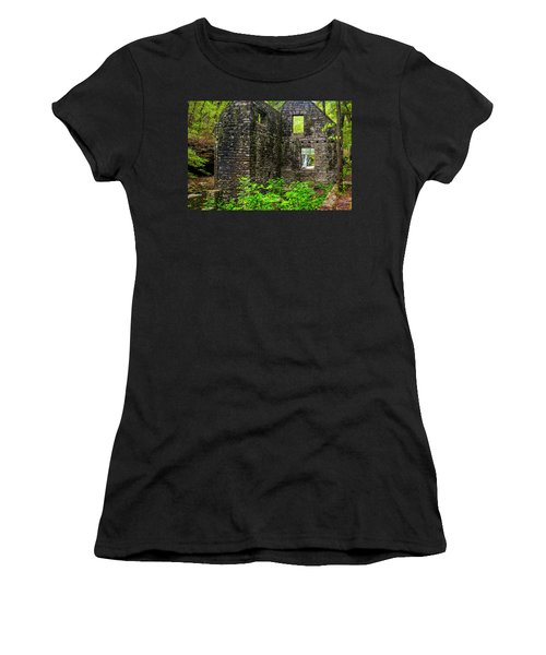 Women's T-Shirt (Athletic Fit) featuring the photograph Window To The Waterfall by Andy Crawford