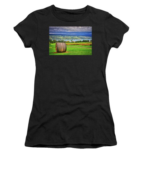 Women's T-Shirt (Athletic Fit) featuring the photograph Wine Country - Finger Lakes, New York by Lynn Bauer