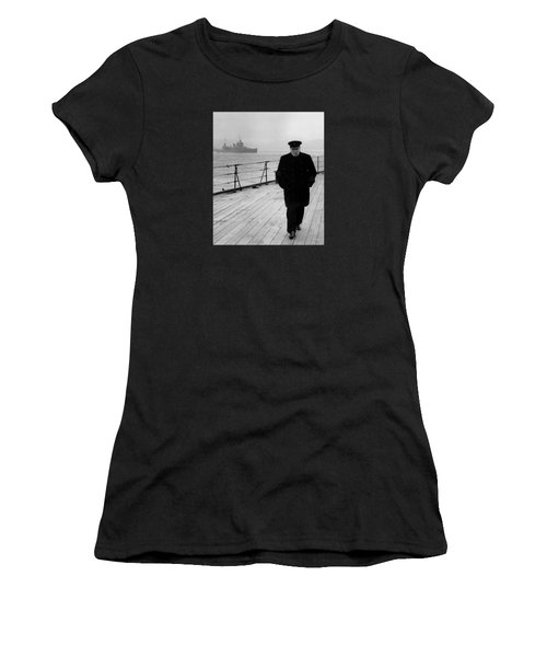 Winston Churchill At Sea Women's T-Shirt
