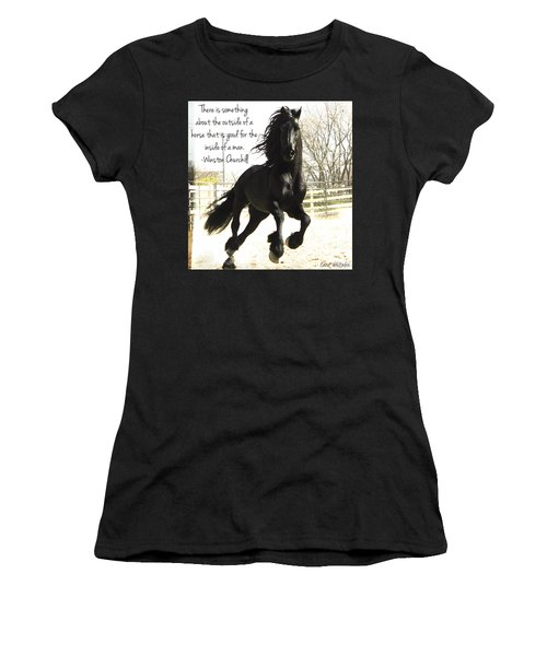 Winston Churchill Horse Quote Women's T-Shirt