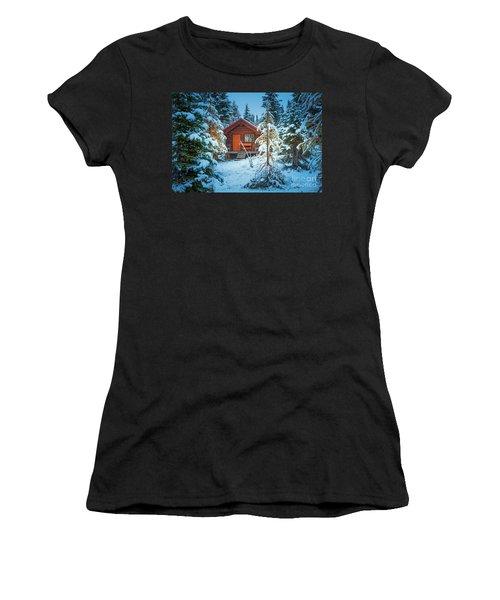 Winter Cabin Women's T-Shirt