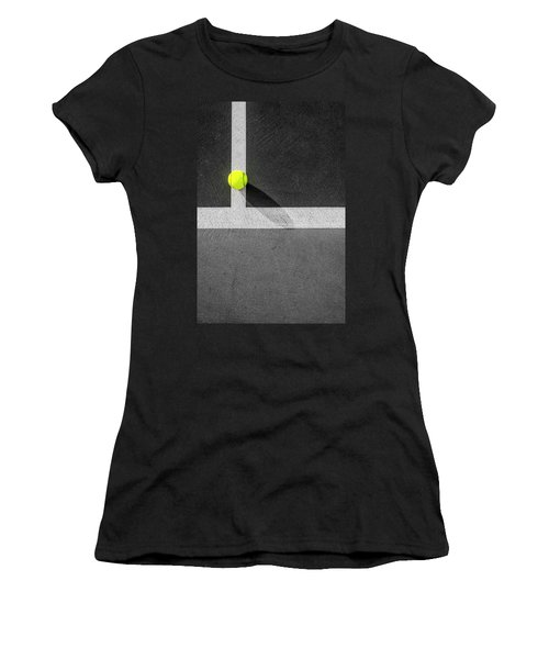 Yellow On The Line Women's T-Shirt
