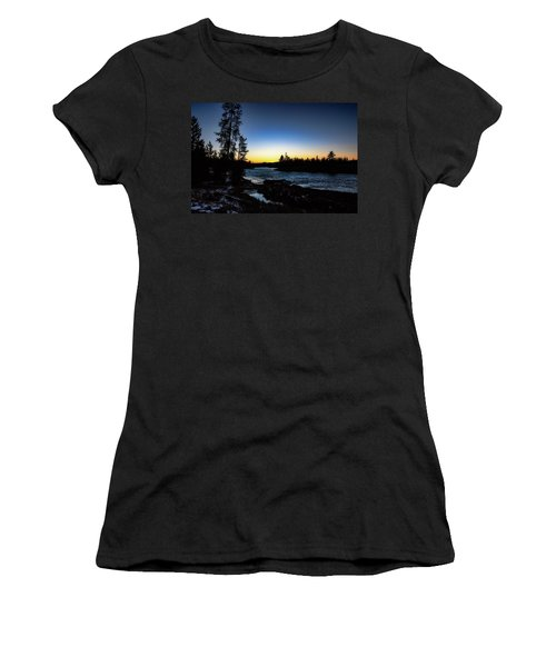 Women's T-Shirt (Athletic Fit) featuring the photograph Yellowstone River by Pete Federico