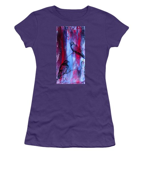 Dark Wings Women's T-Shirt (Athletic Fit)