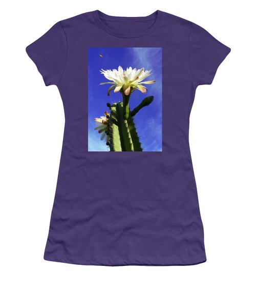 Flowering Cactus 3 Women's T-Shirt (Junior Cut) by Mariusz Kula