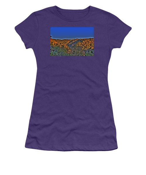 Women's T-Shirt (Junior Cut) featuring the photograph Sun On The Hills by Jonny D