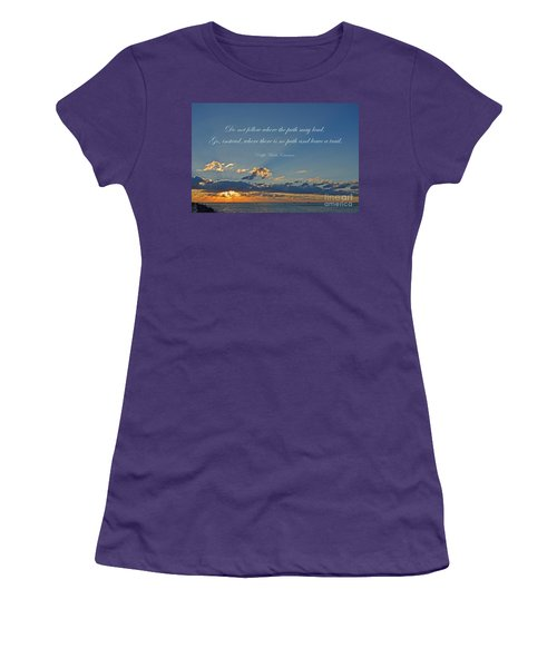 149- Ralph Waldo Emerson Women's T-Shirt (Athletic Fit)