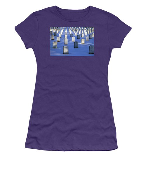 Women's T-Shirt (Junior Cut) featuring the photograph Beneath The Snow by Cora Wandel