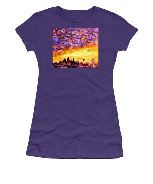 Angkor Sunrise Women's T-Shirt (Athletic Fit)