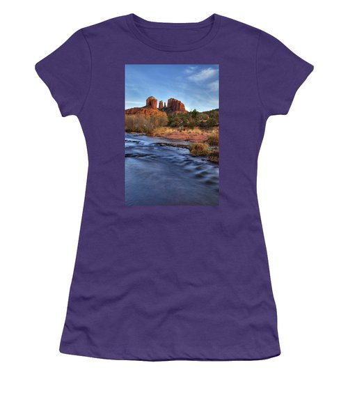 Cathedral Rocks In Sedona Women's T-Shirt (Junior Cut) by Alan Vance Ley