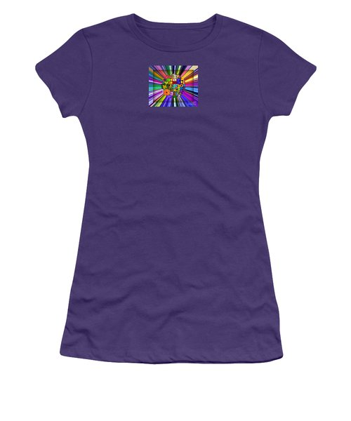 Women's T-Shirt (Junior Cut) featuring the photograph A Burst Of Flowers by Janice Westerberg