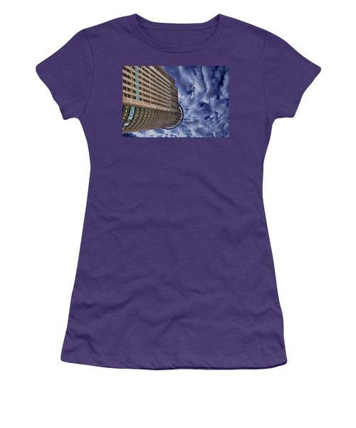 Women's T-Shirt (Junior Cut) featuring the photograph A Drifting Skyscraper by Ron Shoshani