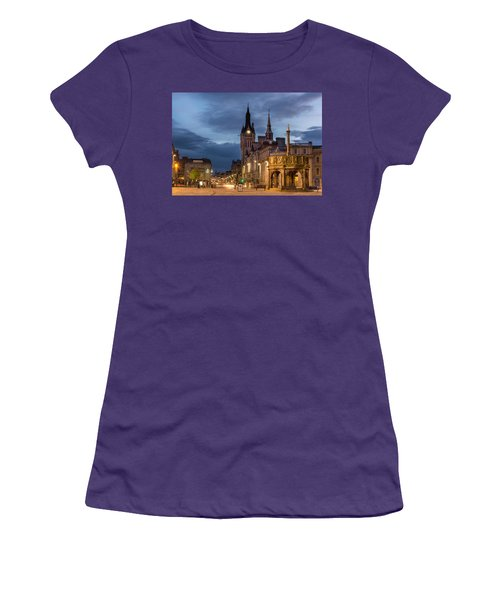 Aberdeen At Night Women's T-Shirt (Athletic Fit)