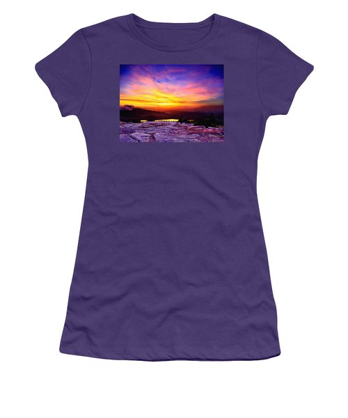 Acadia National Park Cadillac Mountain Sunrise Forsale Women's T-Shirt (Junior Cut) by Bob and Nadine Johnston