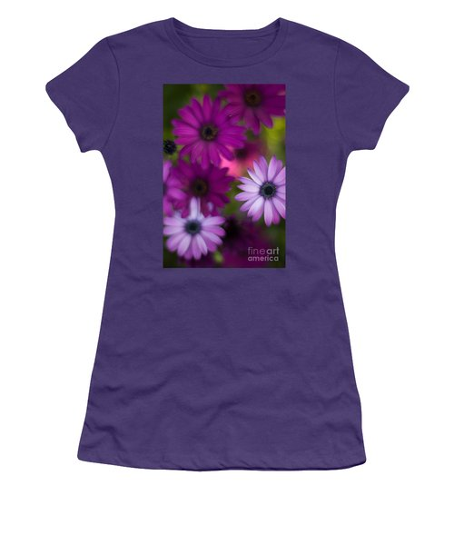 African Daisy Collage Women's T-Shirt (Junior Cut) by Mike Reid