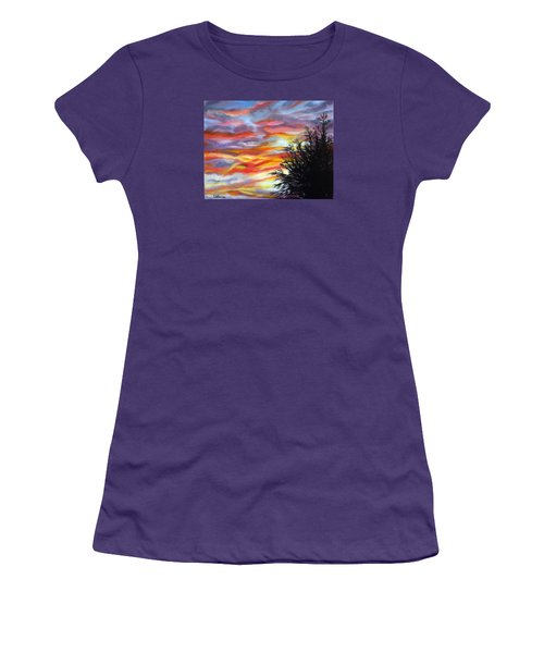 After The Storm Women's T-Shirt (Junior Cut) by LaVonne Hand