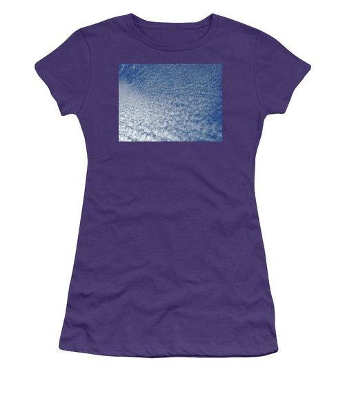 Women's T-Shirt (Junior Cut) featuring the photograph Altocumulus Clouds by Jason Williamson