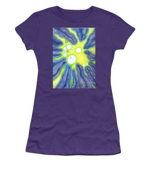 Women's T-Shirt (Junior Cut) featuring the painting Amoeba Adolescence  by Carol Jacobs