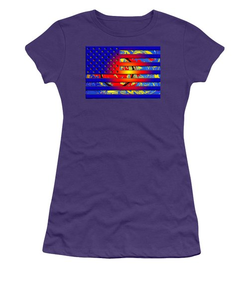 And The Flag Still Stands Women's T-Shirt (Athletic Fit)