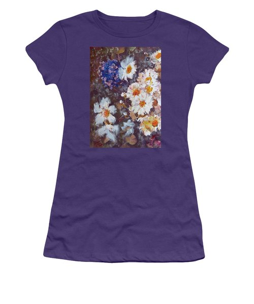 Another Cluster Of Daisies Women's T-Shirt (Junior Cut) by Richard James Digance