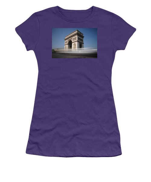 Arc De Triomphe Women's T-Shirt (Junior Cut) by Jeremy Voisey