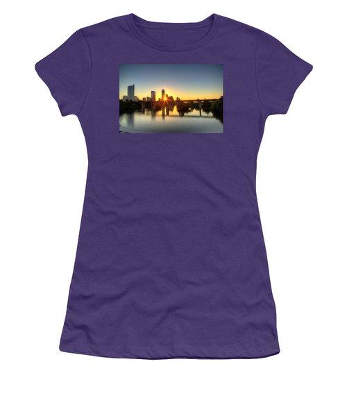 Austin Sunrise Women's T-Shirt (Junior Cut) by Dave Files