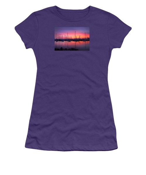 Bayfield Wisconsin Magical Morning Sunrise Women's T-Shirt (Athletic Fit)