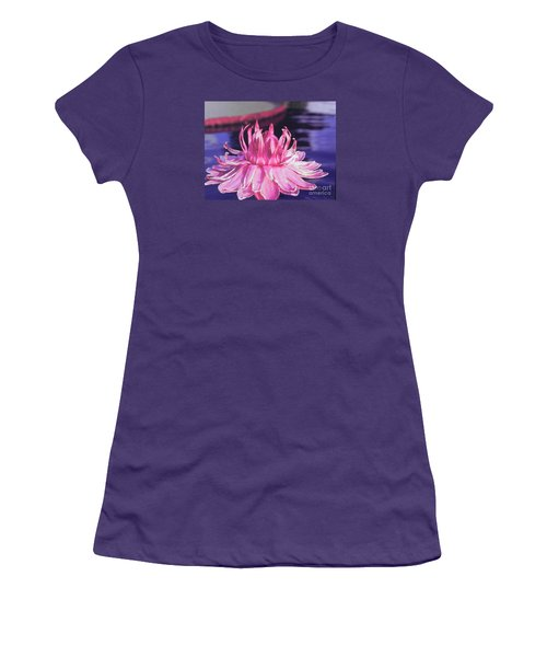 Women's T-Shirt (Junior Cut) featuring the photograph Beauty Of Pink At The Ny Botanical Gardens by Chrisann Ellis