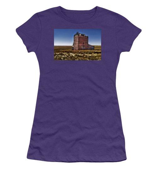 Women's T-Shirt (Junior Cut) featuring the painting Bingo Grain Co by Muhie Kanawati