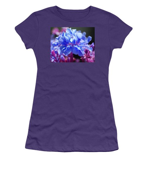 Blue And Purple Flowers Women's T-Shirt (Junior Cut) by Matt Harang