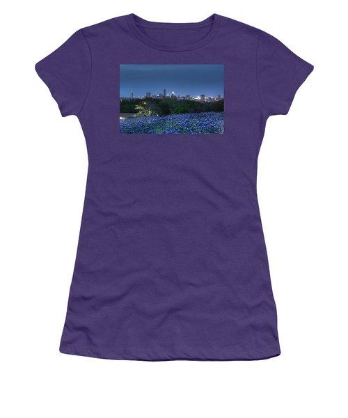 Bluebonnet Twilight Women's T-Shirt (Athletic Fit)