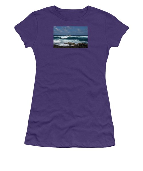 Boiling The Ocean At Laie Point - North Shore - Oahu - Hawaii Women's T-Shirt (Junior Cut) by Georgia Mizuleva