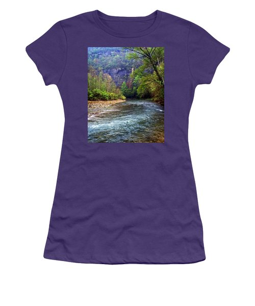 Buffalo River Downstream Women's T-Shirt (Athletic Fit)