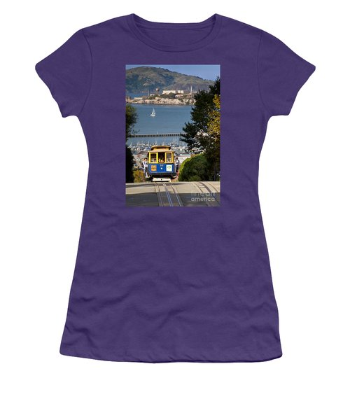 Cable Car In San Francisco Women's T-Shirt (Athletic Fit)