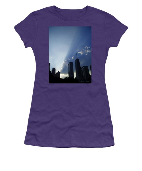 Chicago Sunset Women's T-Shirt (Junior Cut) by Verana Stark