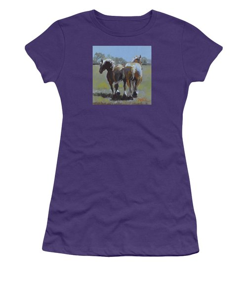 Come Back Max And Major Women's T-Shirt (Junior Cut) by Pattie Wall