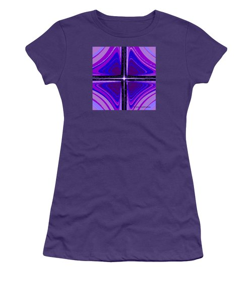 Women's T-Shirt (Junior Cut) featuring the digital art Cool Tones by Joan Hartenstein