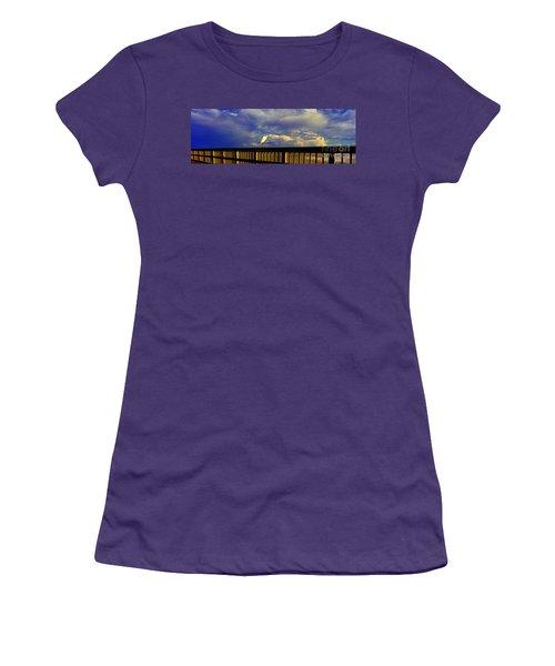 Daytona Beach Rail Bird Sun Glow Pier  Women's T-Shirt (Athletic Fit)